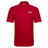 Red Textured Saddle Shoulder Polo-Peoria Rivermen - Hockey Stick
