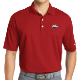 Nike Golf Dri Fit Red Micro Pique Polo-Primary Mark w/out Peoria