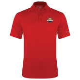 Columbia Red Omni Wick Drive Polo-Primary Mark w/out Peoria
