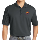 Nike Golf Dri Fit Charcoal Micro Pique Polo-Primary Mark w/out Peoria