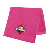 Pink Beach Towel-Primary Mark w/out Peoria