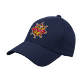 Navy Heavyweight Twill Pro Style Hat-Primary Mark w/out Peoria