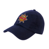 Navy Twill Unstructured Low Profile Hat-Primary Mark w/out Peoria