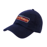 Navy Twill Unstructured Low Profile Hat-Peoria Rivermen - Hockey Stick