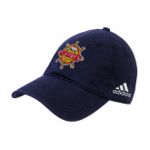 Adidas Navy Slouch Unstructured Low Profile Hat-Primary Mark w/out Peoria