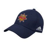 Adidas Navy Structured Adjustable Hat-Primary Mark w/out Peoria