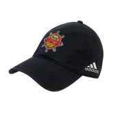 Adidas Black Slouch Unstructured Low Profile Hat-Primary Mark w/out Peoria