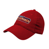 Red Twill Unstructured Low Profile Hat-Peoria Rivermen - Hockey Stick