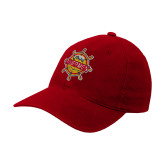 Red OttoFlex Unstructured Low Profile Hat-Primary Mark w/out Peoria