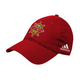 Adidas Red Slouch Unstructured Low Profile Hat-Primary Mark w/out Peoria