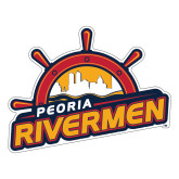 Large Magnet-Peoria Rivermen Secondary Mark, 12in Wide