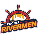 Super Large Magnet-Peoria Rivermen Secondary Mark, 24in Wide