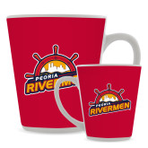 Full Color Latte Mug 12oz-Peoria Rivermen Secondary Mark