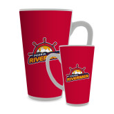 Full Color Latte Mug 17oz-Peoria Rivermen Secondary Mark