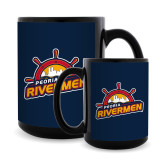 Full Color Black Mug 15oz-Peoria Rivermen Secondary Mark