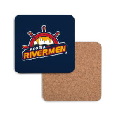 Hardboard Coaster w/Cork Backing-Peoria Rivermen Secondary Mark