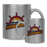 Full Color Silver Metallic Mug 11oz-Peoria Rivermen Secondary Mark