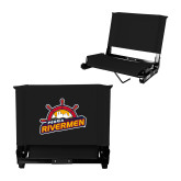 Stadium Chair Black-Peoria Rivermen Secondary Mark