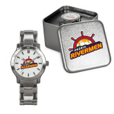 Mens Stainless Steel Fashion Watch-Peoria Rivermen Secondary Mark