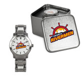 Ladies Stainless Steel Fashion Watch-Peoria Rivermen Secondary Mark