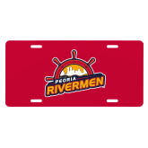 License Plate-Peoria Rivermen Secondary Mark