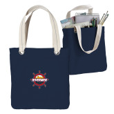 Allie Navy Canvas Tote-Primary Mark w/out Peoria