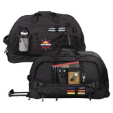 Urban Passage Wheeled Black Duffel-Primary Mark w/out Peoria