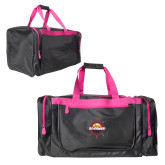 Black With Pink Gear Bag-Primary Mark w/out Peoria