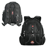 Wenger Swiss Army Mega Black Compu Backpack-Primary Mark w/out Peoria