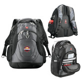 Wenger Swiss Army Tech Charcoal Compu Backpack-Primary Mark w/out Peoria