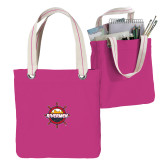 Allie Fuchsia Canvas Tote-Primary Mark w/out Peoria