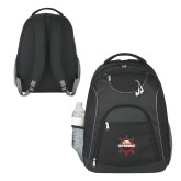 The Ultimate Black Computer Backpack-Primary Mark w/out Peoria