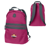 Pink Raspberry Nailhead Backpack-Primary Mark w/out Peoria
