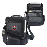 Momentum Black Computer Messenger Bag-Primary Mark w/out Peoria