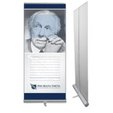 33.5 x 80 Vertical Banner including Silver Retractable Banner Stand-Frank Lloyd Wright