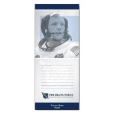33.5 x 80 Vertical Banner including Silver Retractable Banner Stand-Neil Armstrong w/ Personalization