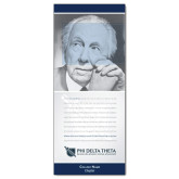 33.5 x 80 Vertical Banner including Silver Retractable Banner Stand-Frank Lloyd Wright w/ Personalization