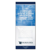 33.5 x 80 Vertical Banner including Silver Retractable Banner Stand-Corporate Ladder w/ Personalization