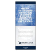 33.5 x 80 Vertical Banner including Silver Retractable Banner Stand-Subtle Difference w/ Personalization