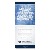33.5 x 80 Vertical Banner including Silver Retractable Banner Stand-Communities w/ Personalization