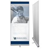 33.5 x 80 Vertical Banner including Silver Retractable Banner Stand-Lou Gehrig