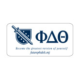 Medium Decal-Shield/Phi Delta Theta Symbols Recruitment, 8 in W