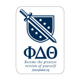 Medium Decal-Stacked Shield/Phi Delta Theta Symbols Recruitment, 8 in H