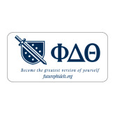 Large Decal-Shield/Phi Delta Theta Symbols Recruitment, 12in W