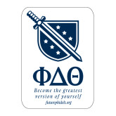 Large Decal-Stacked Shield/Phi Delta Theta Symbols Recruitment, 12in H