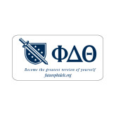 Small Decal-Shield/Phi Delta Theta Symbols Recruitment, 6in W