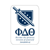 Small Decal-Stacked Shield/Phi Delta Theta Symbols Recruitment, 6in H