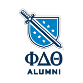 Alumni Decal-Stacked Shield/Phi Delta Theta Symbols, 6in H