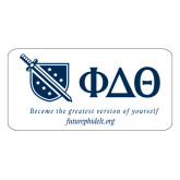 Extra Large Decal-Shield/Phi Delta Theta Symbols Recruitment, 18in W