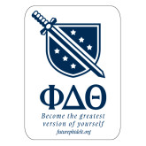 Extra Large Decal-Stacked Shield/Phi Delta Theta Symbols Recruitment, 18in H